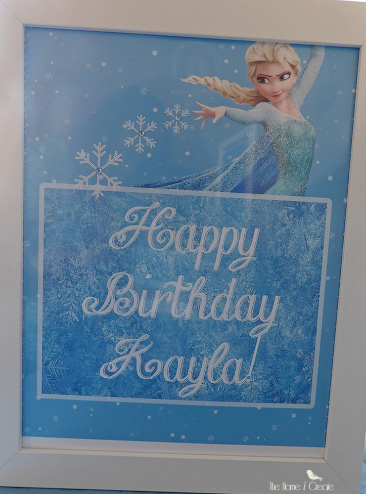 DIY Disney Frozen Birthday Party on a budget thehomeicreate.com.