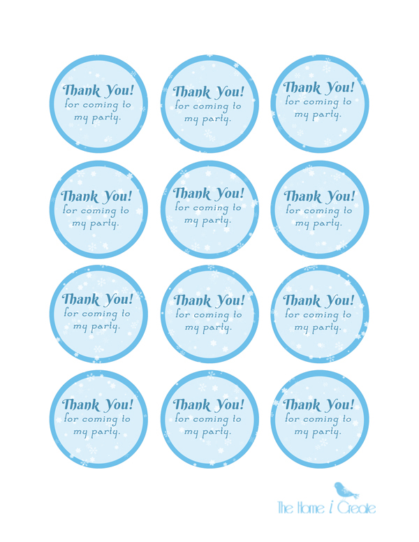 DIY Frozen Birthday Party Favor Tags thehomeicreate.com