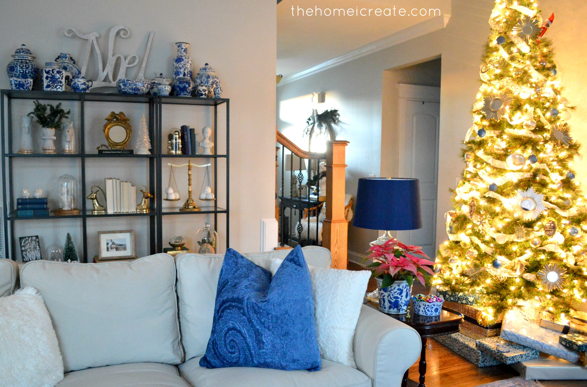 Christmas House Tour Living Room 13