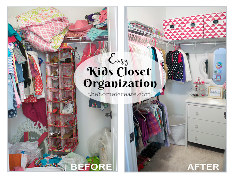 Easy Kids Closet Organization Ideas