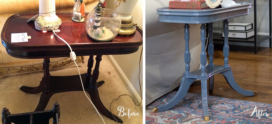 Simple DIY table before and after