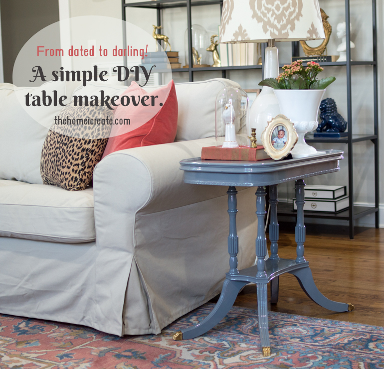 Simple DIY table makeover