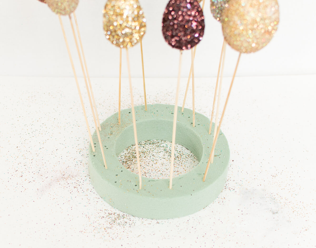 How To Make Glitter Cake Pop Sticks