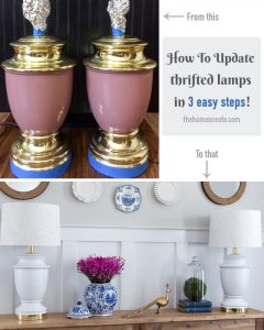 Thrift store Lamp Makeover main