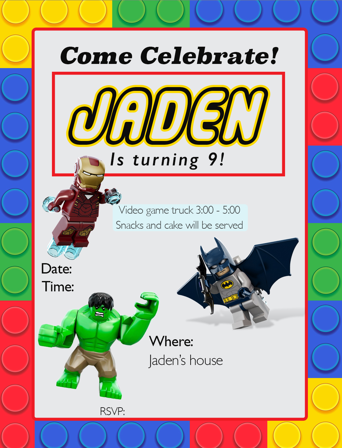 A Totally Awesome and Easy Lego Birthday Party! - The Home I Create