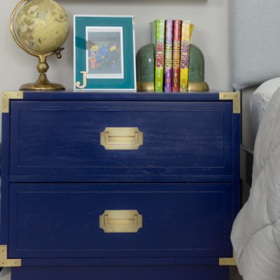 Campaign Nightstand Makeover