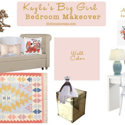 Pretty in Pink Girls Room Makeover {Week 1}