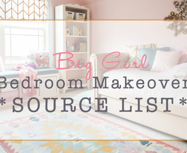 Pretty in Pink Girls Room Makeover Source List