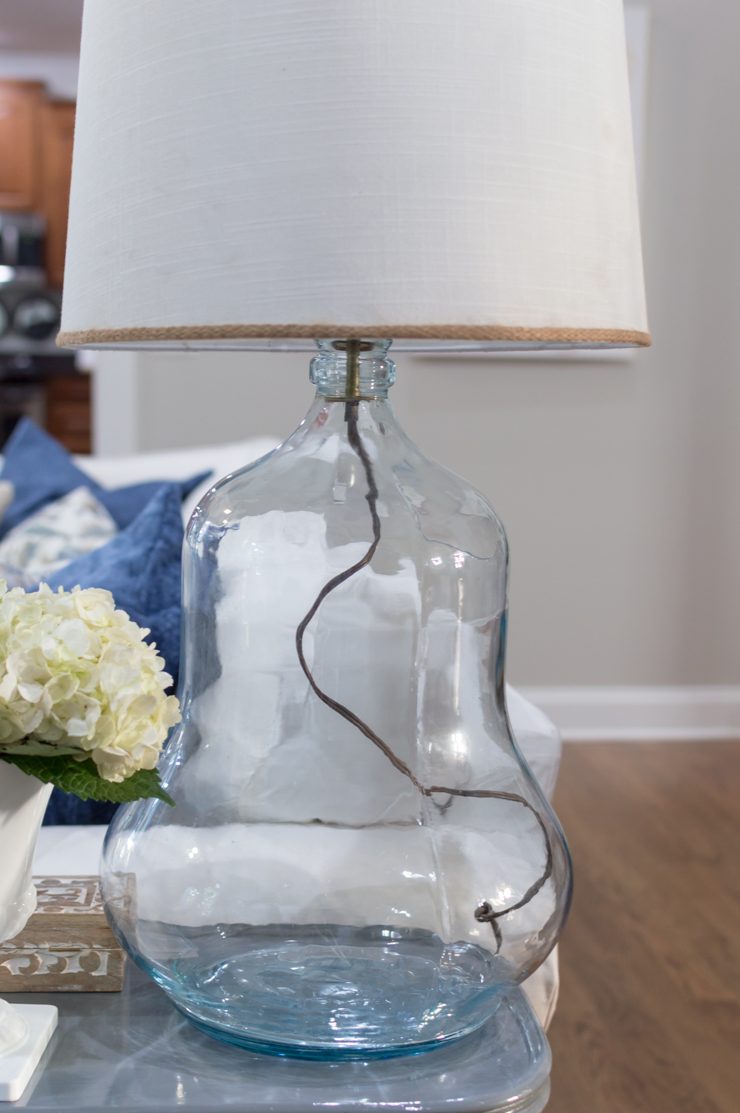 Thrift Store Glass Lamp Makeover 160622-3