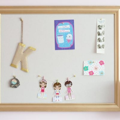 Pottery Barn Inspired DIY Pinboard