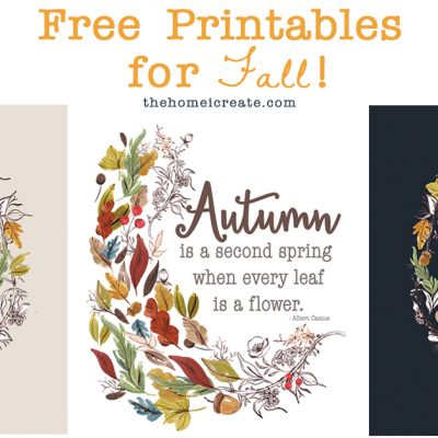 3 Free Printables for Fall – Just print & hang!