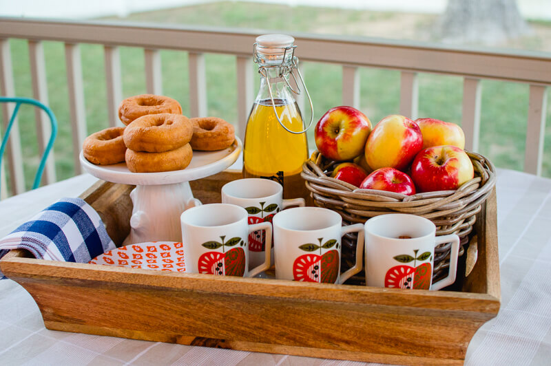 apples-and-cider with vintage apple mugs