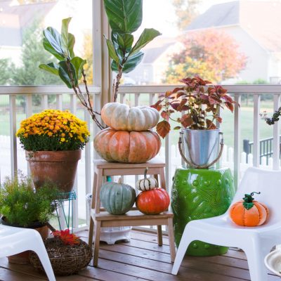 Cozy and Colorful Fall Porch Decorating