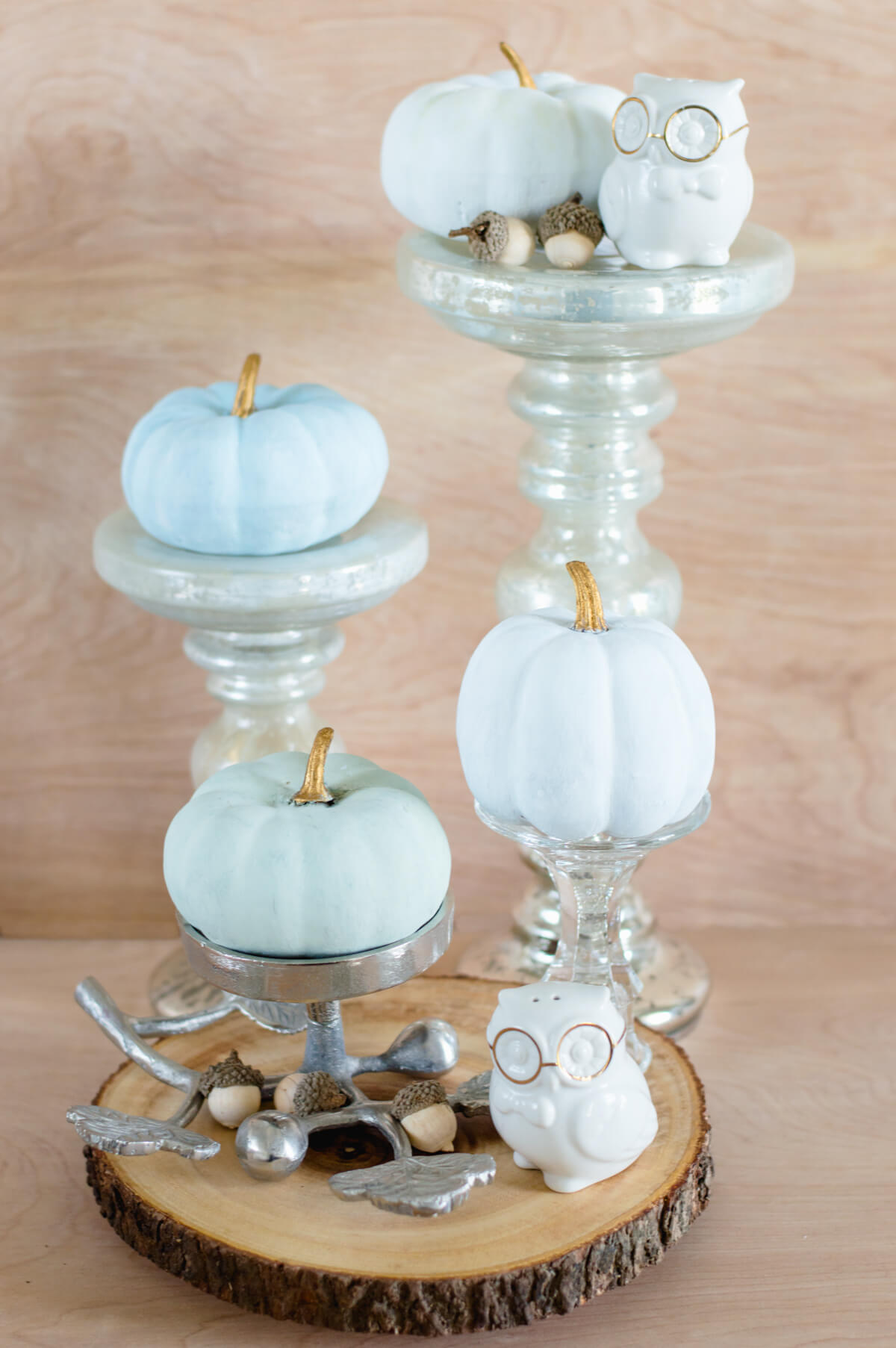 Dollar store painted pumpkins | thehomeicreate.com