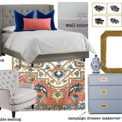 One Room Challenge {ORC} Week 1: Master Bedroom Plans