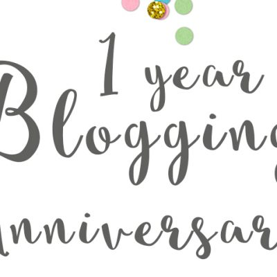 1 Year Blog Anniversary + A giveaway!