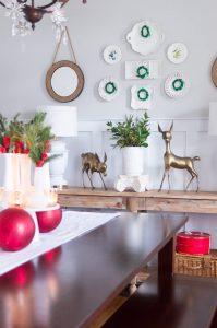 Dining Room Christmas Home Decor