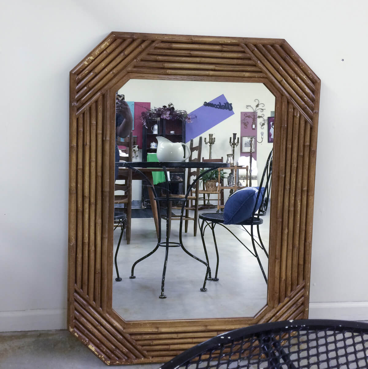 Faux Bamboo Mirror | Thrifting | thriftscore | thehomeicreate.com