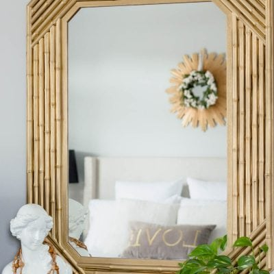 $15 Faux Bamboo Mirror Makeover