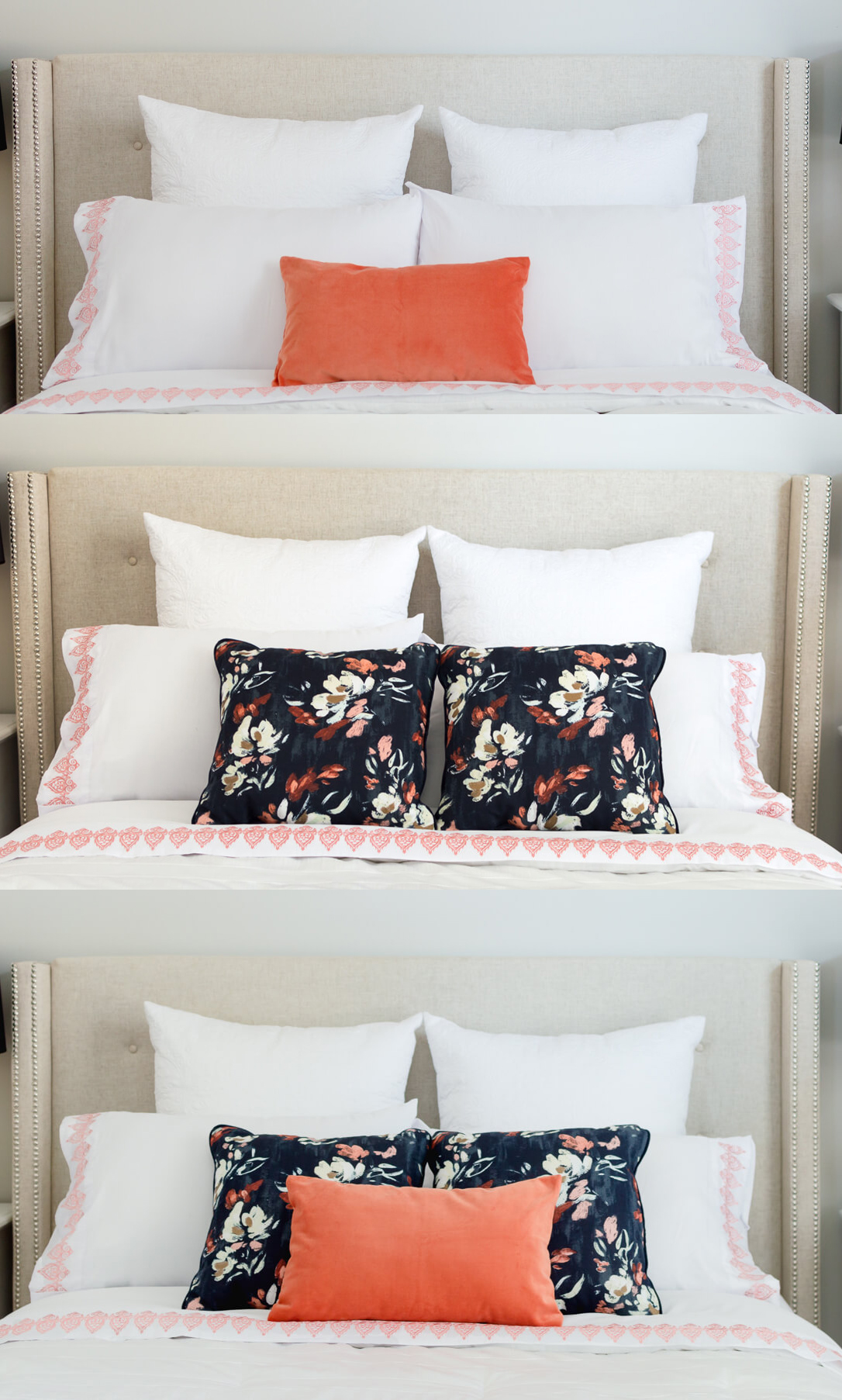 Accent Pillows | Bedroom Pillows | Master Bedroom | Pillow Arrangement |  Thehomeicreate.com