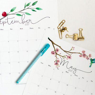 Free 2017 Printable Calendar