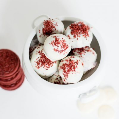 No-Bake Red Velvet Oreo Balls