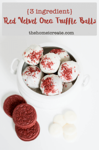 Red Velvet Oreo Balls | thehomeicreate.com