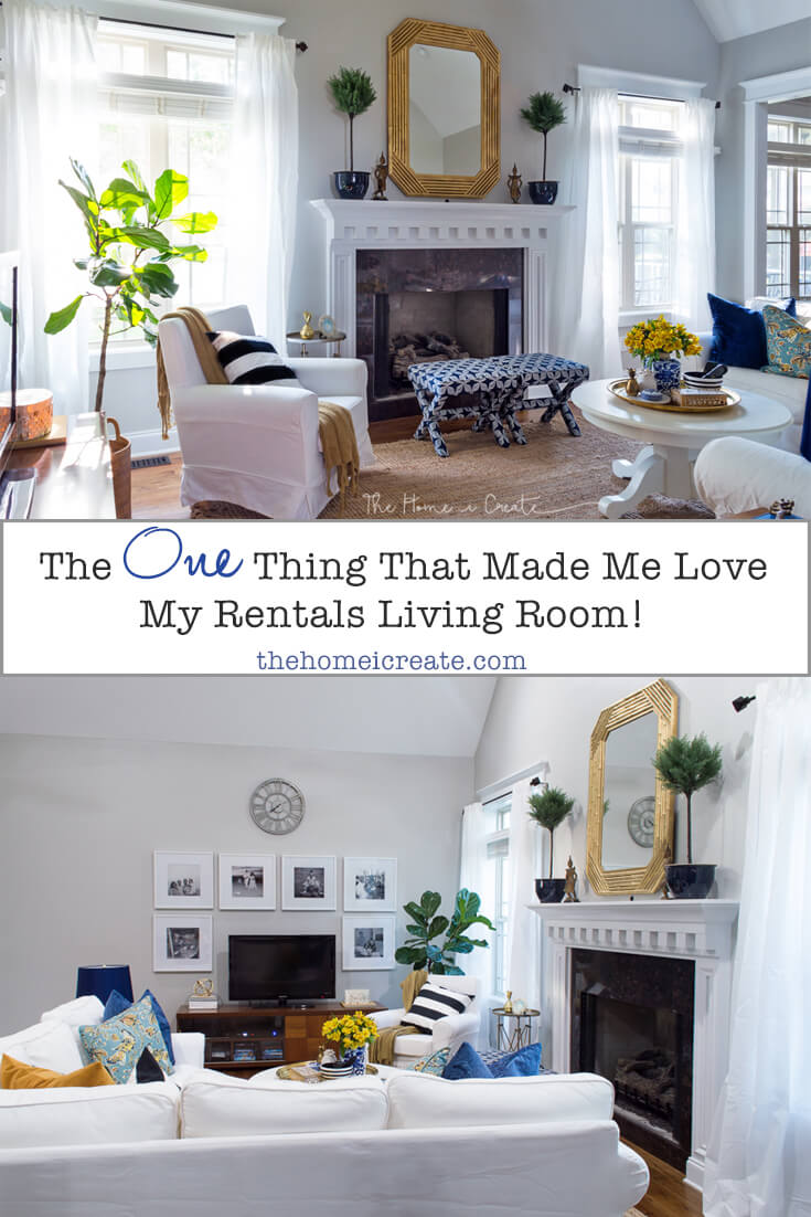Renter friendly | living room small | space solutions | white sectional | thehomeicreate.com