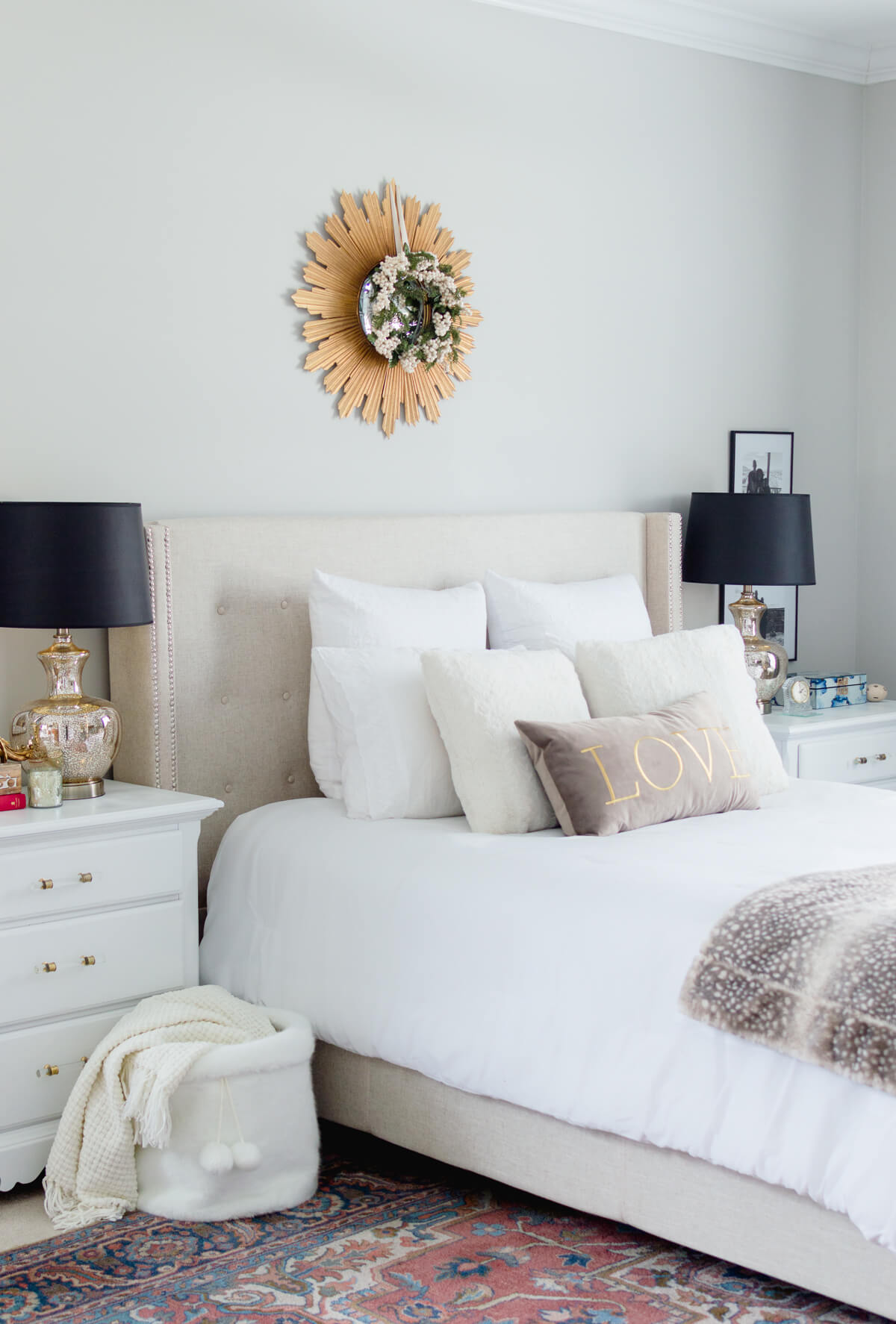 simple master bedroom decor update | room decor | bedroom decoration | bedroom lamps | thehomeicreate.com