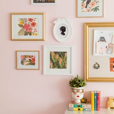 Gallery Wall Inspired By The Colors Of Wes Anderson