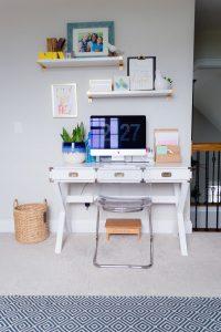 Bonus room decor ideas with home office space.