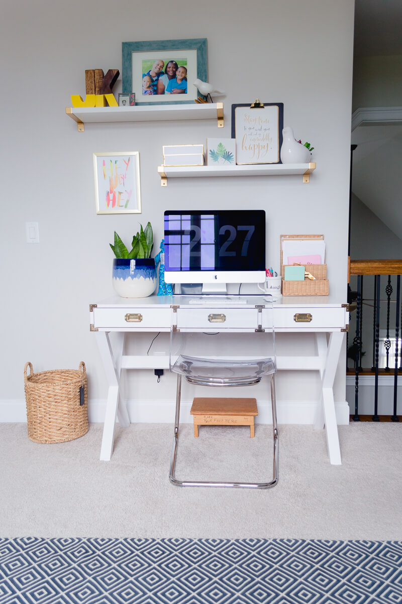 Bonus room decor ideas with home office space.