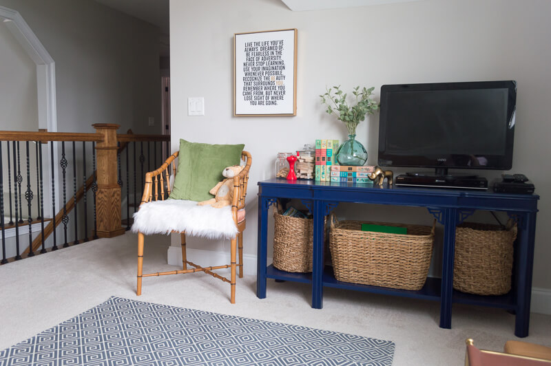 Loft bonus room refresh 100 room challenge reveal the home i create - The home in the loft space without borders ...