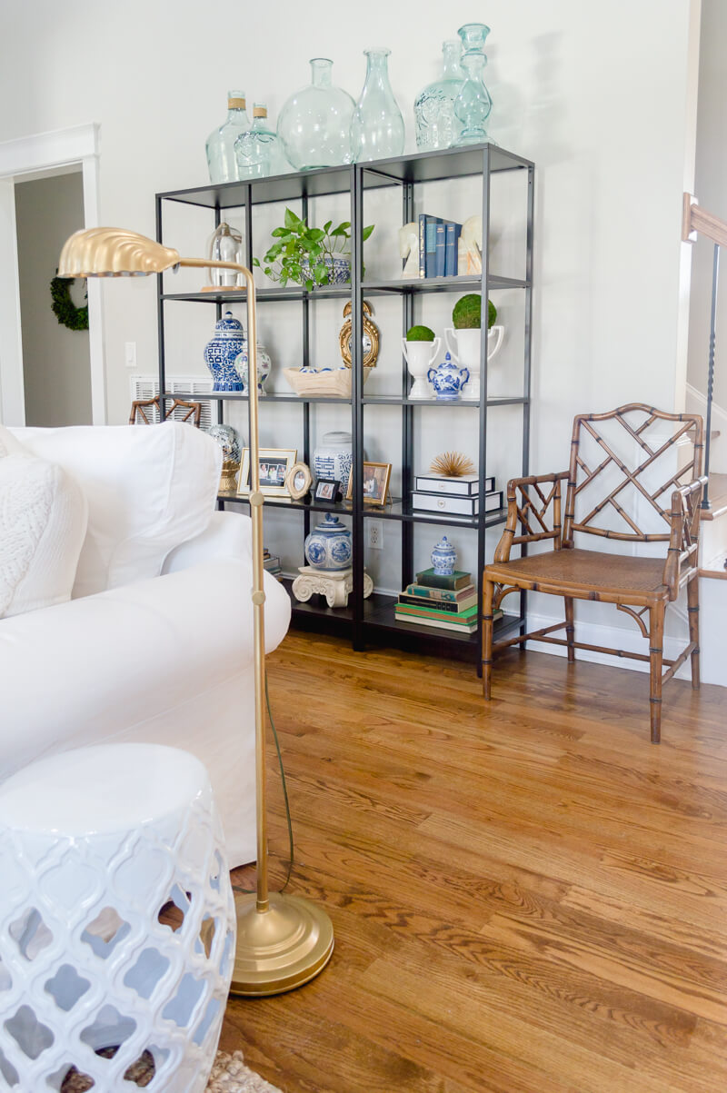 Spring Living Room Refresh | shelf styling | The Home I Create