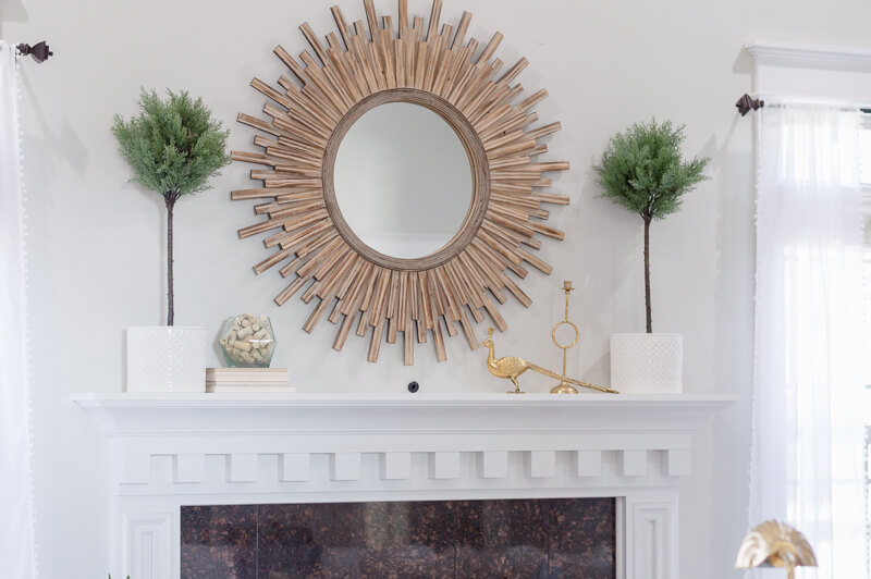 Spring Living Room Refresh | Sunburst Mirror | The Home I Create
