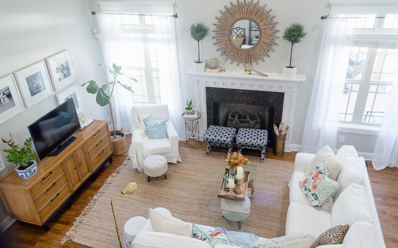 Spring Living Room Refresh || White Ikea Ektorp Sectional || The Home I Create