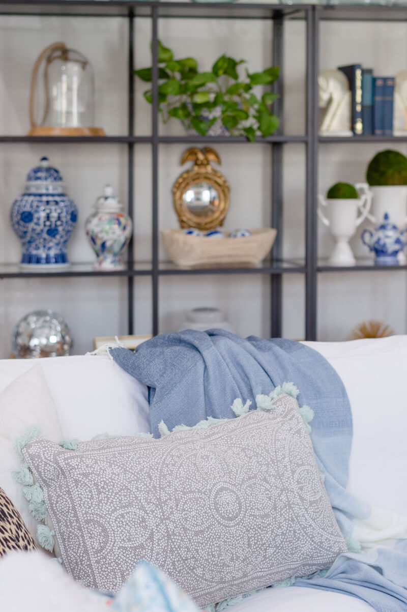Spring Living Room Refresh | pillow with fringe | The Home I Create