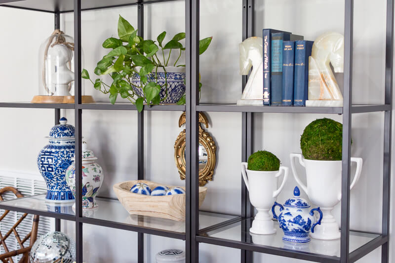Spring Living Room Refresh | Ikea Vittsjo shelf | The Home I Create