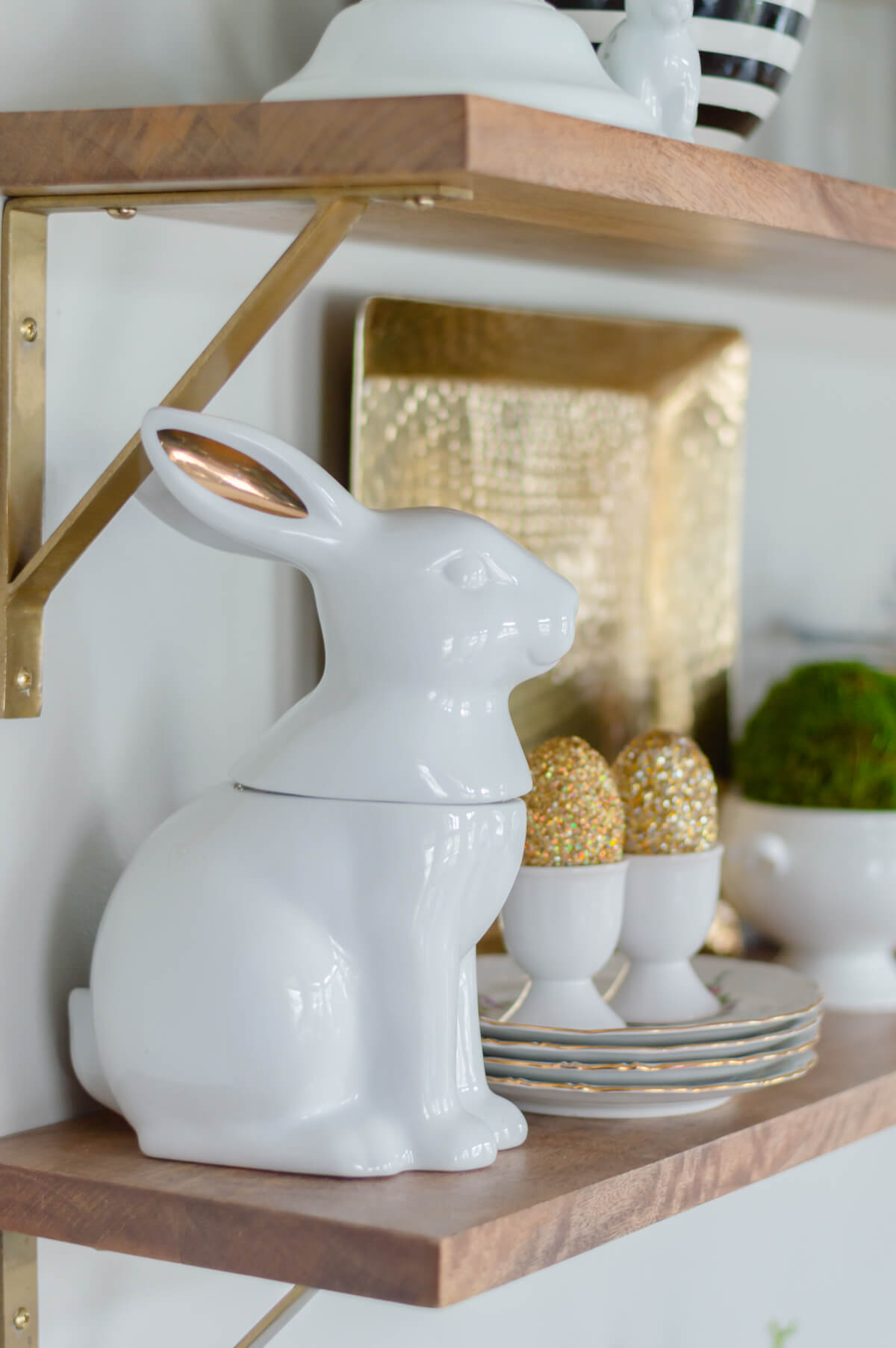 Ceramic Bunny Cookie Jar | Easter Decor | Kitchen Shelf Decor
