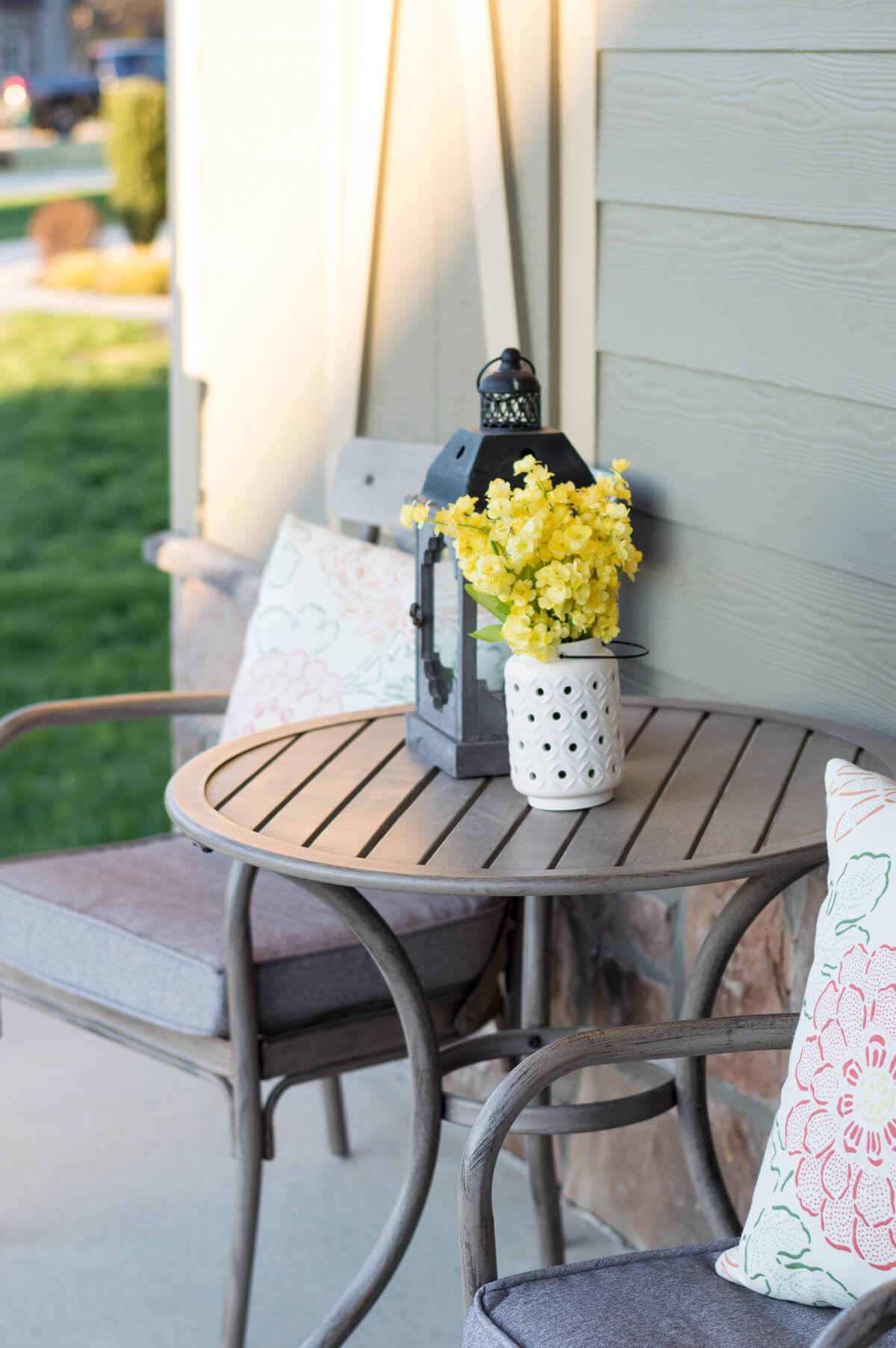 This cute ceramic rain boot was a spur of the moment purchase from Walmart. & 5 Minute DIY Spring Flower Door Basket Video - The Home I Create