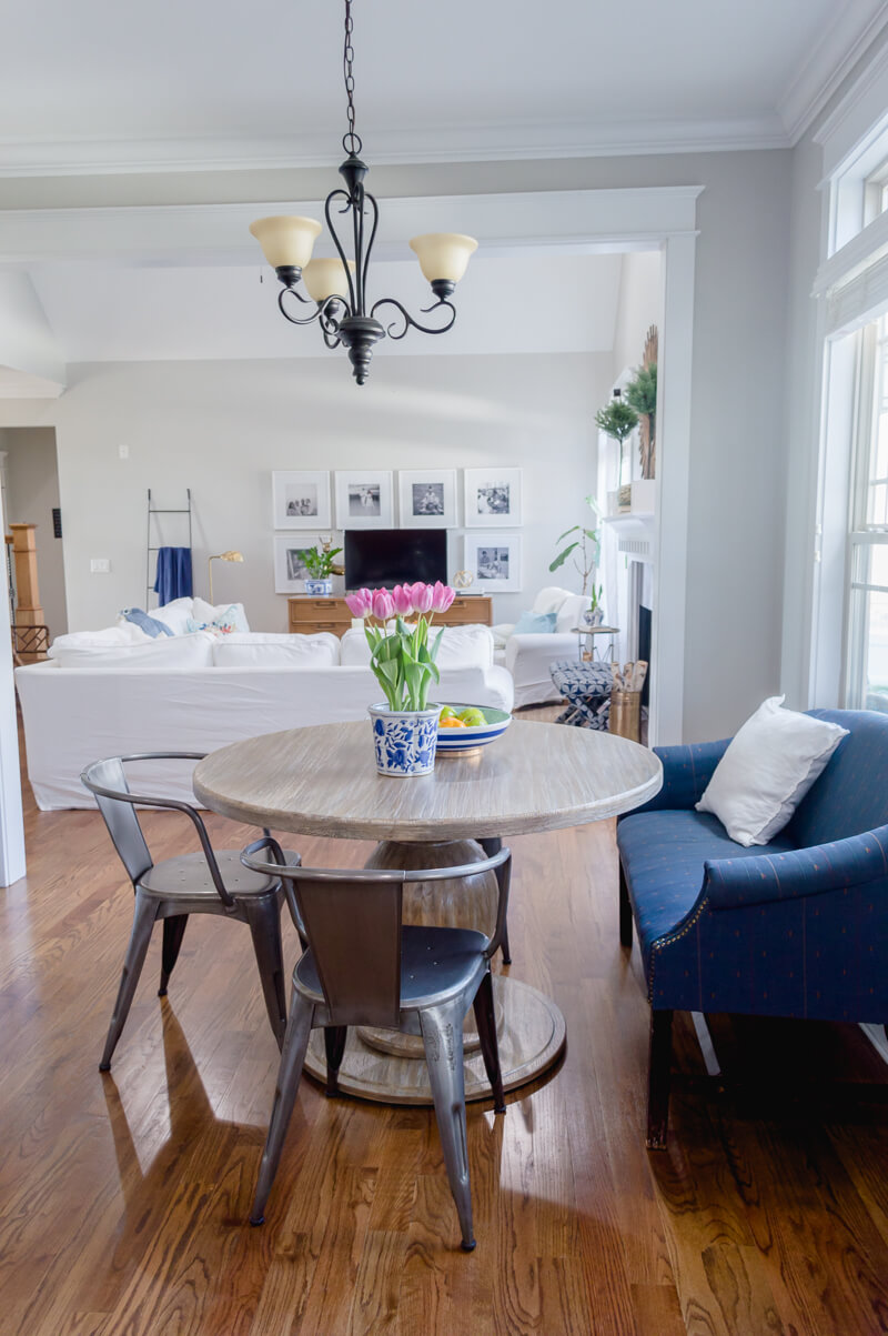 Breakfast Nook Update With Round Farmhouse Table The