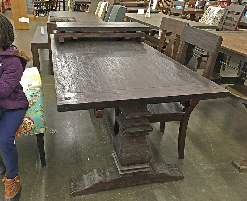 Turn A Huge Dining Room Table Into A Desk