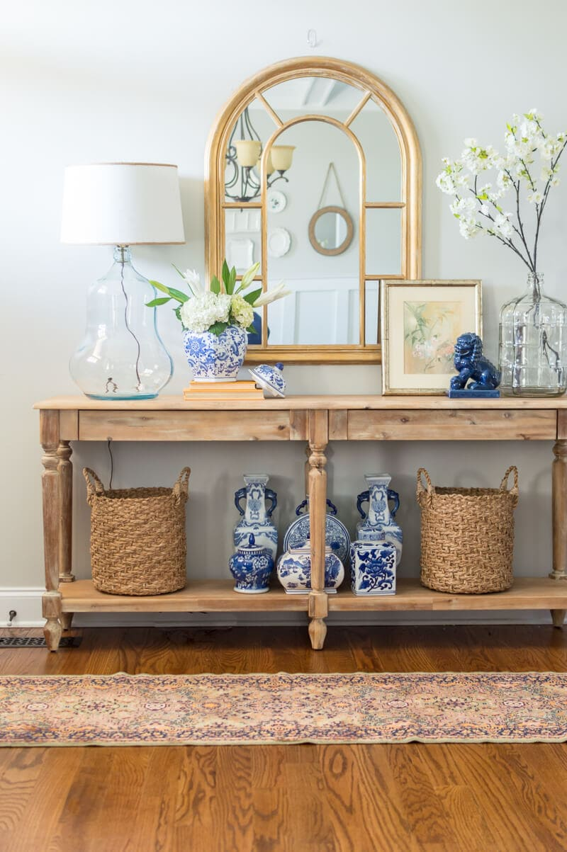 Everett Foyer Table : Renewed and refreshed spring entryway the home i create
