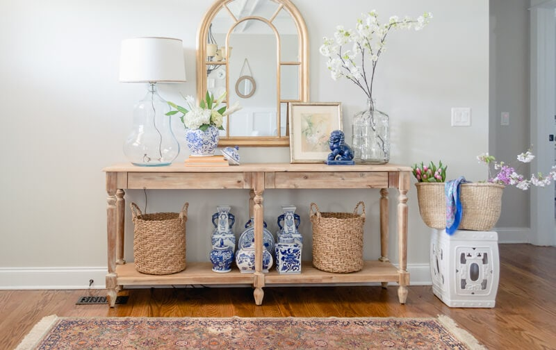 Spring Entryway Refresh || World Market Everett Table || The Home I Create