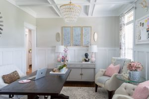 Dining Room Office home decor -- feminine home office -- The Home I Create