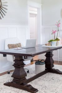 Dining Room Office -- rustic farmhouse table - The Home I Create