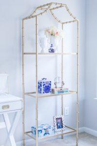 Gold bamboo shelf