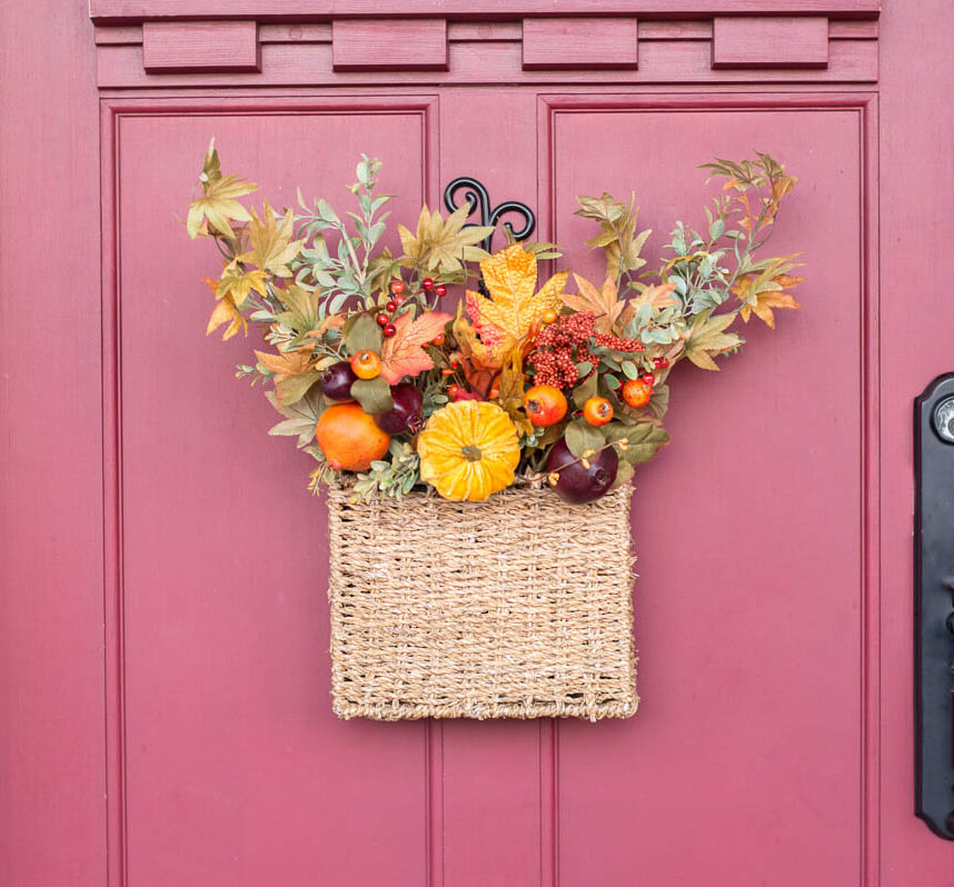 Basket with fall flowers | the home i create