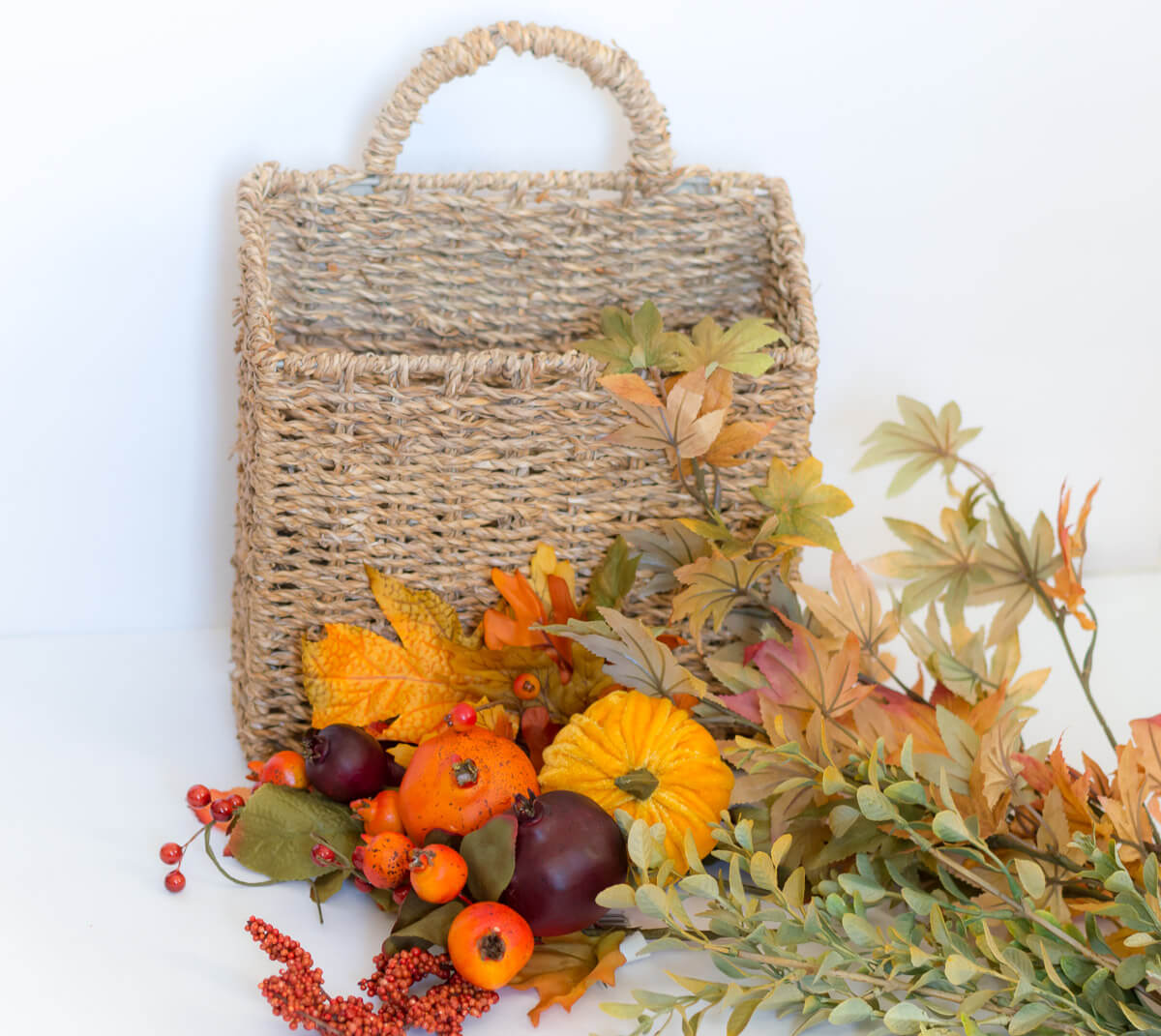 DIY fall door basket | the home i create