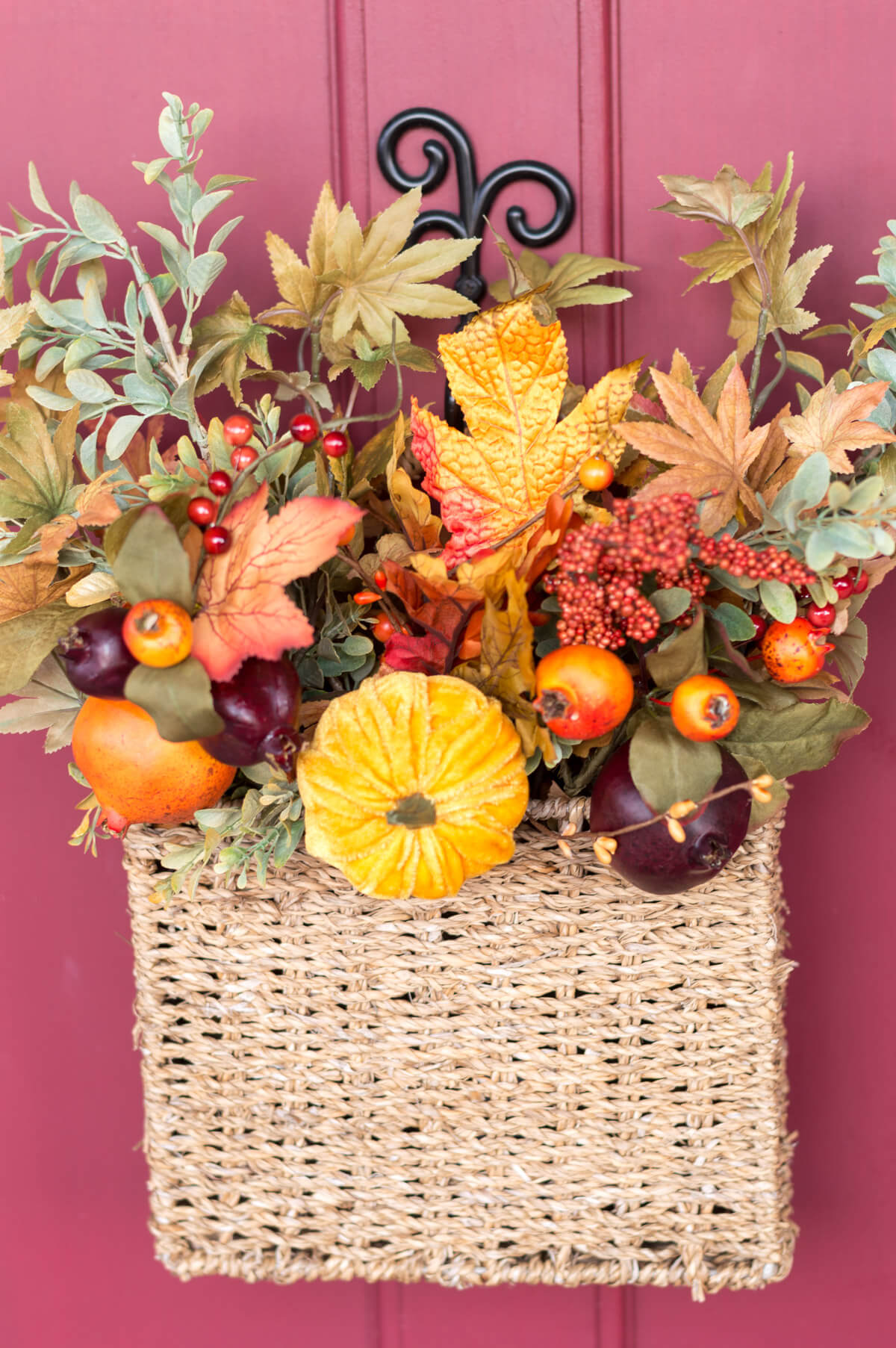 DIY fall door decor basket | the home i create